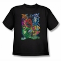 Green Lantern youth teen t-shirt Blackest Group black