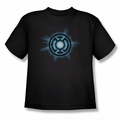 Green Lantern youth teen t-shirt Blue Glow black