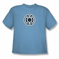 Green Lantern youth teen t-shirt Blue Lantern Logo carolina blue