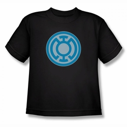 Green Lantern youth teen t-shirt Blue Symbol black