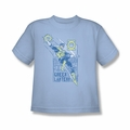 Green Lantern youth teen t-shirt City Watch light blue