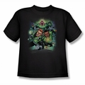 Green Lantern youth teen t-shirt Corps #1 black