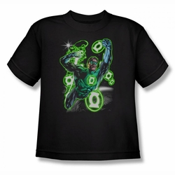 Green Lantern youth teen t-shirt Earth Sector black