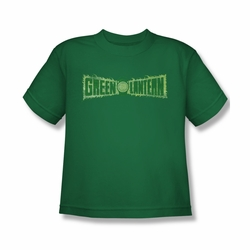 Green Lantern youth teen t-shirt Flame Logo kelly green