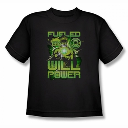Green Lantern youth teen t-shirt Fueled black