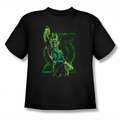 Green Lantern youth teen t-shirt Fully Charged black