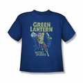 Green Lantern youth teen t-shirt Fully Charged royal blue