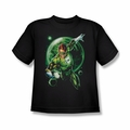Green Lantern youth teen t-shirt Galaxy Glow black