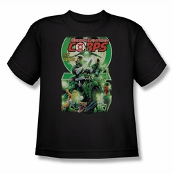 Green Lantern youth teen t-shirt Gl Corps #25 Cover black