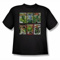 Green Lantern youth teen t-shirt Gl Covers black