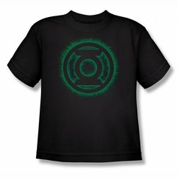 Green Lantern youth teen t-shirt Green Flame Logo black