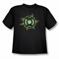 Green Lantern youth teen t-shirt Green Glow black