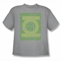 Green Lantern youth teen t-shirt Green Lantern Oath silver