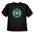 Green Lantern youth teen t-shirt Green Symbol black