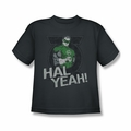 Green Lantern youth teen t-shirt Hal Yeah charcoal