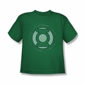 Green Lantern youth teen t-shirt Hand Me Down kelly green