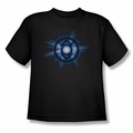 Green Lantern youth teen t-shirt Indigo Glow black