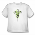 Green Lantern youth teen t-shirt Inked white