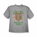 Green Lantern youth teen t-shirt Keeping It Green athletic heather