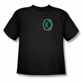 Green Lantern youth teen t-shirt Kyle Logo black
