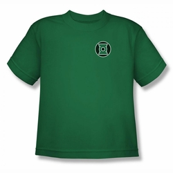 Green Lantern youth teen t-shirt Kyle Rayner Logo kelly green