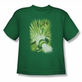Green Lantern youth teen t-shirt Lantern'S Light kelly green