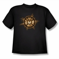 Green Lantern youth teen t-shirt Orange Glow black