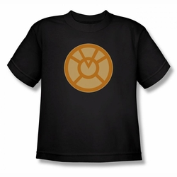 Green Lantern youth teen t-shirt Orange Symbol black