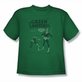 Green Lantern youth teen t-shirt Perilous Traps kelly green