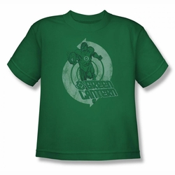 Green Lantern youth teen t-shirt Power kelly green