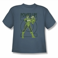 Green Lantern youth teen t-shirt Power Up slate