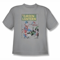 Green Lantern youth teen t-shirt Puppet Menace silver