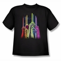 Green Lantern youth teen t-shirt Rainbow Corps black