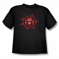 Green Lantern youth teen t-shirt Red Glow black