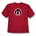 Green Lantern youth teen t-shirt Red Lantern Logo red