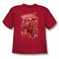 Green Lantern youth teen t-shirt Red Lanterns #1 red