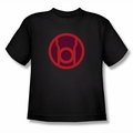 Green Lantern youth teen t-shirt Red Symbol black