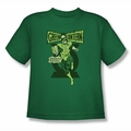 Green Lantern youth teen t-shirt Retro Oath kelly green