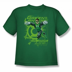 Green Lantern youth teen t-shirt Sector 2814 kelly green