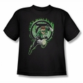 Green Lantern youth teen t-shirt Space Cop black