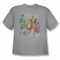 Green Lantern youth teen t-shirt Speedy Junkie silver