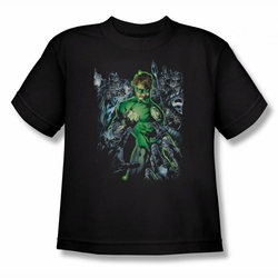 Green Lantern youth teen t-shirt Surrounded By Death black