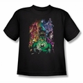 Green Lantern youth teen t-shirt The New Guardians black