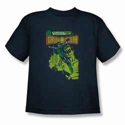 Green Lantern youth teen t-shirt Vintage Cover navy