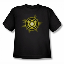 Green Lantern youth teen t-shirt Yellow Glow black