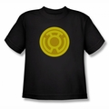 Green Lantern youth teen t-shirt Yellow Symbol black