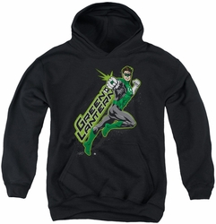 Green Lantern youth teen hoodie Among The Stars black