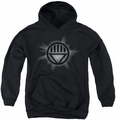 Green Lantern youth teen hoodie Black Glow black