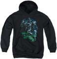Green Lantern youth teen hoodie Black Lantern Batman black