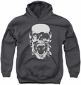 Green Lantern youth teen hoodie Black Lantern Skull charcoal